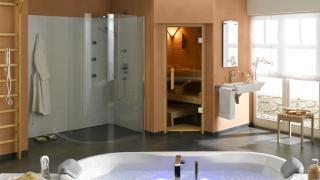 Phòng tắm hiện đại cần có phòng xông hơi